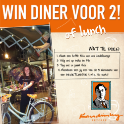 Win een diner of lunch voor 2!